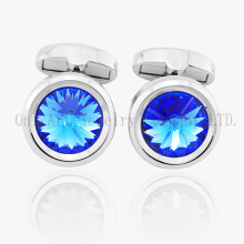 Fashion Accessory Jewelry Men Crystal Brass Cufflink