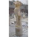 Антикварная статуя резного камня из камня, резная мраморная скульптура для украшения гостиницы (SY-X1150)