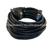 Black 15 PIN SVGA SUPER VGA Monitor 2 Male 15 meters VGA Cable for lcd 15 pin connector