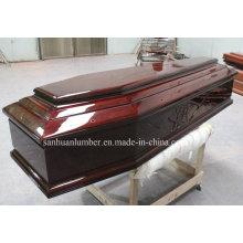Caixão de madeira de estilo euro & caixões / alto bruto caixão & caixões