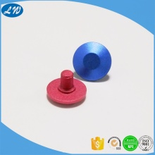 CNC turning aluminum anodized non standard screw cap