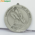 Souvenir Sport Metal Silver Medal with Ribbon