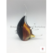 Big Black Fish Glass Sculpture
