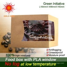 2013 Newest Fast Food Box Packaging With Antifogging Window