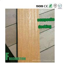 Decking de stratifié composé en plastique en bois de Co-Extrusion extérieure WPC