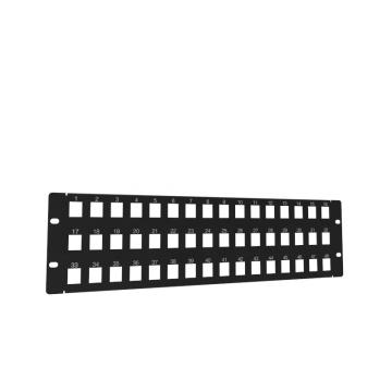 Rack or Wall Mount 48-Port Keystone Patch Panel