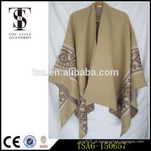 Oversized pesado acrílico lenço mais recente design cape xale jacquard weave inverno laides cachecóis