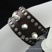 Punk Spike Bracelet Brown Wrap pulseira para Estrelas BGL-024