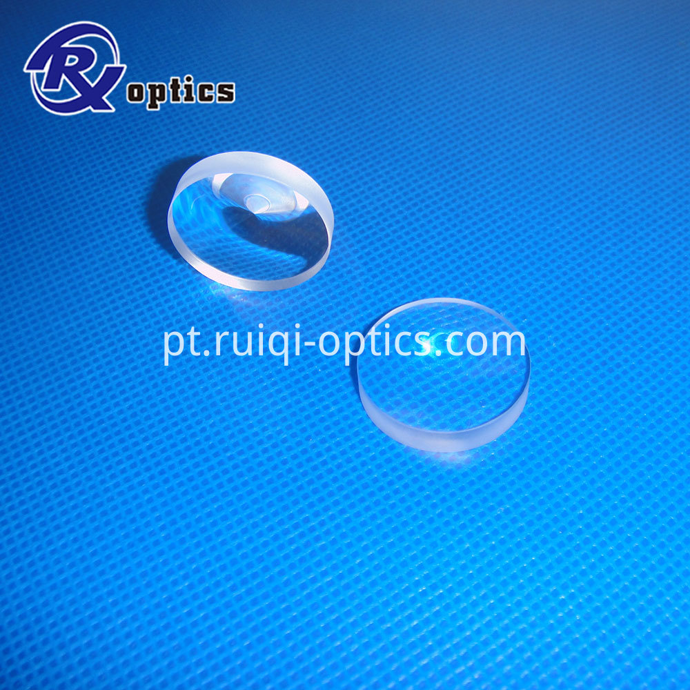 convex conical lens