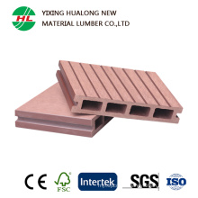Hollow Wood Plastic Composite Decking with Good Price (HLM129)