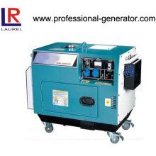 Tragbarer 5kVA Silent Diesel Generator Luftgekühlt mit 10 Zoll Rädern