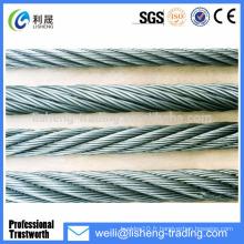 6 * 19 Fil de fer en acier galvanisé haute résistance pour grue
