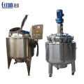 Pharmaceutical Mixing Vessels Double Jacketed Mixing Tank
