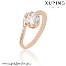 Anillo de dedo de moda 13894 xuping 18k fotos de anillos de bodas de oro