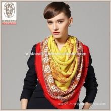 Echarpe en gros en hiver 130x130cm écharpe en laine à la main 100% écharpe en laine