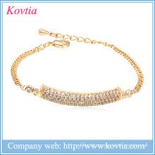 Moda mais populares cz jóias pulseira novos produtos 2016 produtos inovadores meninas festa vestidos pulseira de ouro