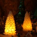 Stunning colorful flameless Christmas tree LED candle