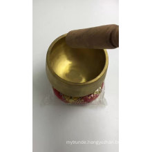 Spun Brass Meditation Chakra Singing Bowls