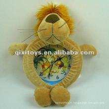 belle peluche lion animaux jouet horloge