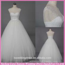 WD6021 Qualidade tecido pesado artesanal de exportação de cristal de cristal de cristal pérolas vestido de casamento roupa de casamento