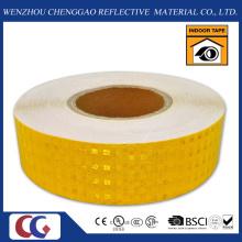 PVC en forma de panal patrón evidencia cinta de seguridad reflectante amarillo (CG3500-OY)