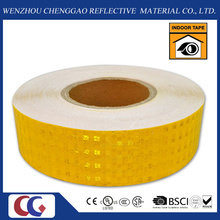 PVC Honeycomb Pattern Conspicuity Yellow Reflective Safety Tape (CG3500-OY)