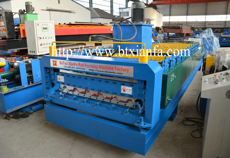 corrugated roof steel sheet making machine