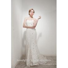 Mermaid Sweetheart Corte tren elegante vestido de novia de encaje AS30402