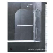 Cabine de douche sans plateau et pièces pour porte de douche