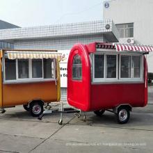 Remolque al aire libre eléctrico de la comida del bocado del carro de la comida de la alta calidad