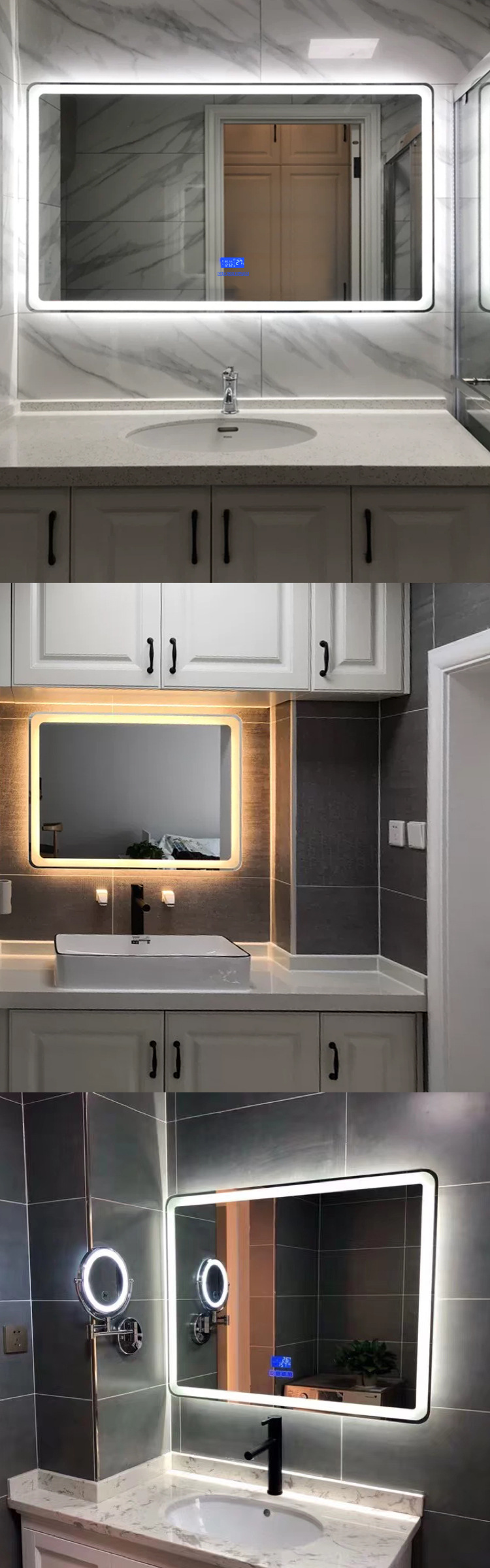 Big Vanity Mirror With LightsofApplication Big Mirror With Lights