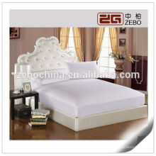 Plain estilo al por mayor cabido sábanas protector de colchón
