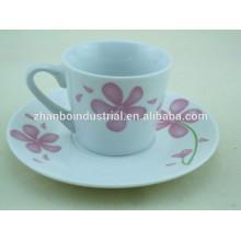 Fuentes de fábrica 220ml de taza de té de porcelana y platillo taza y platillo