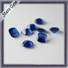 Nuevo diseño cuadrado forma octágono azul sintético espinela