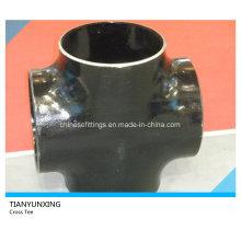 ANSI B16.9 Seamless Bw de acero de carbono Cruz Tee