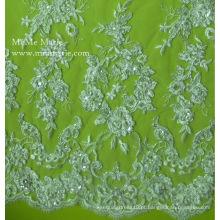 Lace Fabric 2014 Beaded Belt Bordado Vestido de noiva Casamento Casamento de laço 52 '' No.CA003CB