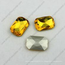Fancy Chaton Point Back Stone Piedra de cristal de lujo para la ropa