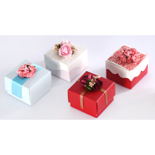 Customizable Candy Box Pernikahan Nikmat Flowders Paper Boxes