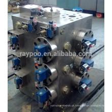Colector da válvula do sistema de controle hidráulico para a lata de alumínio que faz a máquina