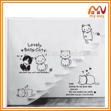 Autocollants muraux de la série chat, autocollants muraux pour enfants, achat du marché de la Chine