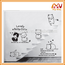 Adesivos de parede fofos de série de gato, adesivos de parede de crianças, comprar no mercado da China
