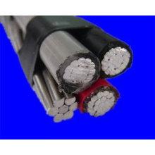 Cable de caída de servicio PE / XLPE Cable aislado