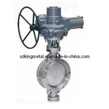 Wafer Type Metal Sealing PTFE Seat Gear Operation Buttfly Valves