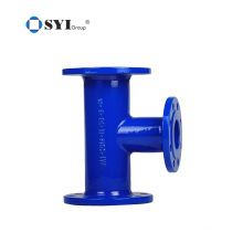 AWWA C110 Ductile Iron Tee Shape Flanged Fittings for water pipeline projects