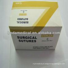 Sutura cromada catgut 150cm sutura absorvível