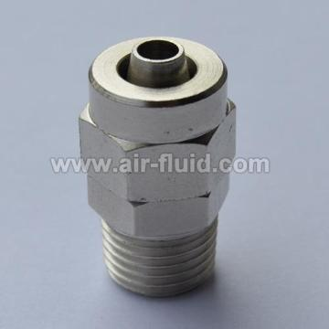 Straight Male Stud Connector BSP N.P Brass Push-On Tubing  Fittings