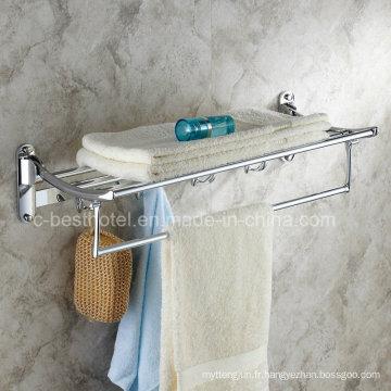 Salle de bain salle de bain salle de bain Chrome plaqué serviette serviette de bain en laiton
