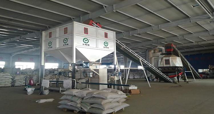 Wood pellet packing machine