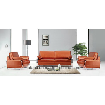 Metal Leather Office Living Room Sectional Sofa (RFT-Fu-1/3)