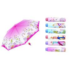 Mini-Regenschirm mit Wärmeübertragung und kompaktem Druck (YS-3FM21083005R)